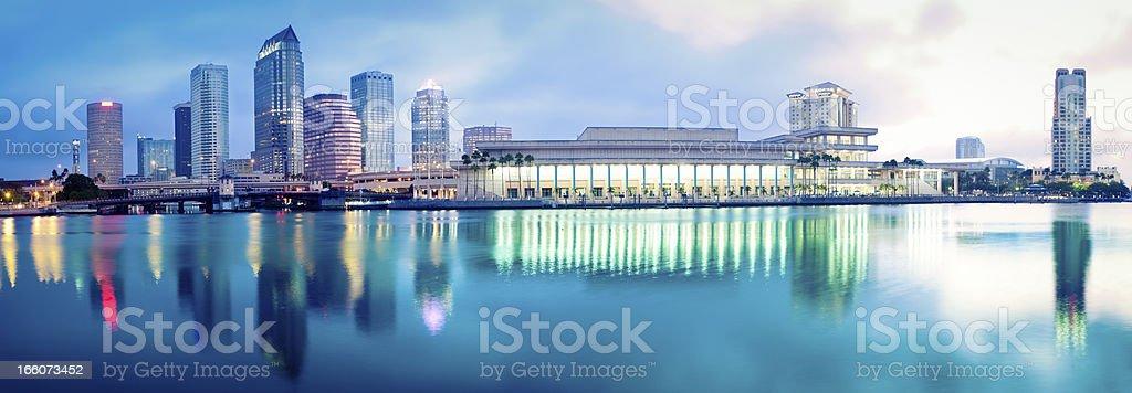 Panorama of Downtown Tampa stock photo