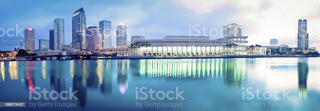 Panorama of Downtown Tampa stock photo