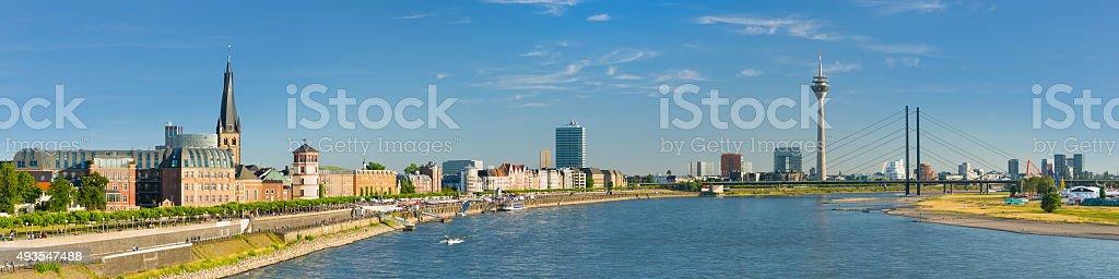 Panorama of Dusseldorf stock photo