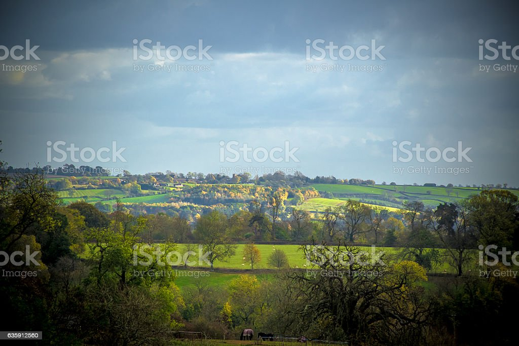Panorama of East Leicestershire countryside stock photo