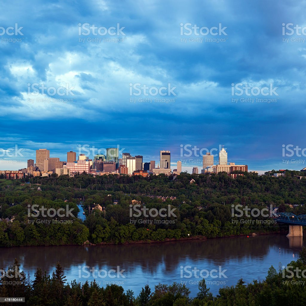 Panorama of Edmonton stock photo