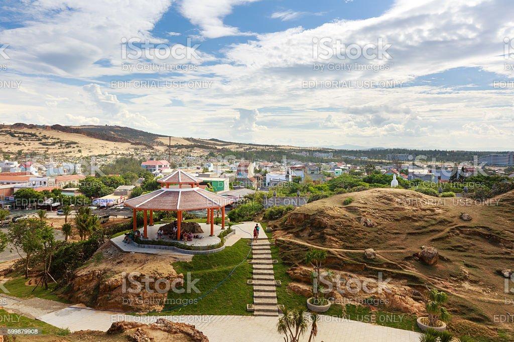 panorama of EoGio beach in the city of QuiNhon stock photo