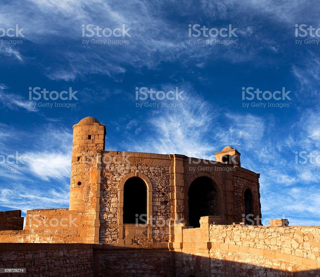 Panorama of Essaouira Fortress, Morocco stock photo
