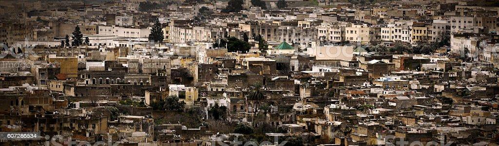 Panorama of Fez stock photo