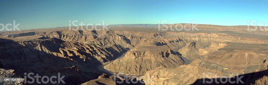 Panorama of Fish River Canyon, Namibia stock photo