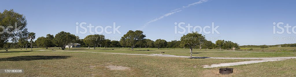 Panorama of Flamingo Campgrounds stock photo