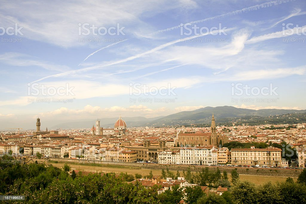 Panorama of Florence, Italy royalty-free stock photo