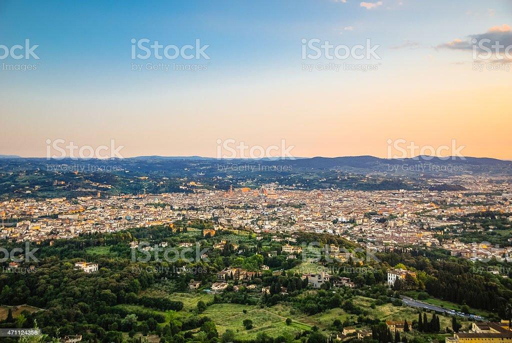 Panorama of Florence, Italy stock photo