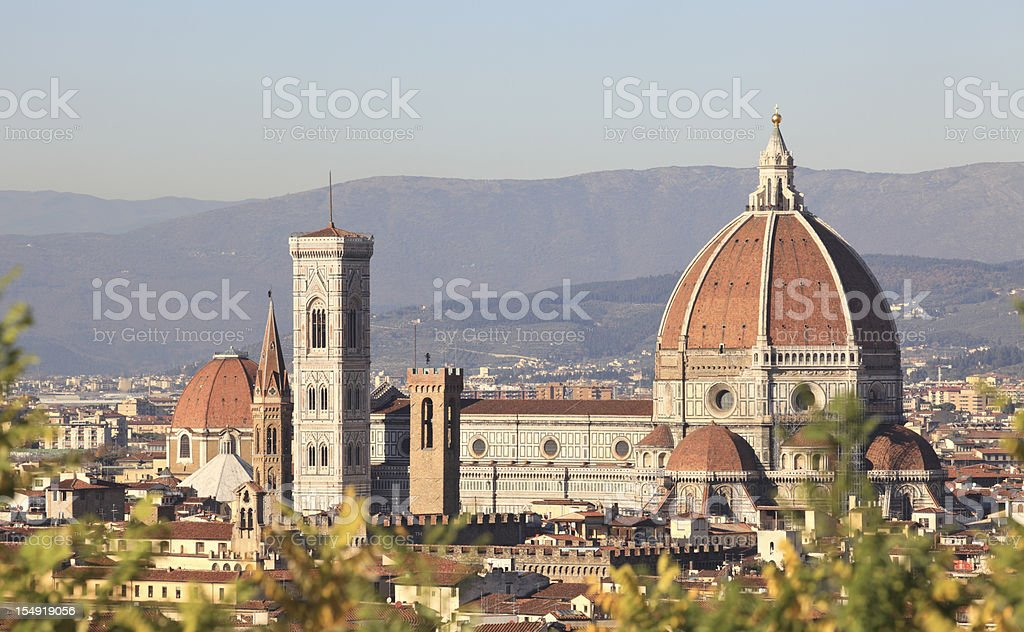 Panorama of Florence, the Duomo and Campanile -  Tuscany Italy royalty-free stock photo