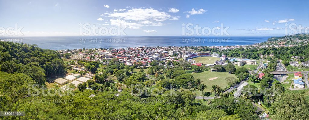 Panorama of Fort de France, Martinique stock photo