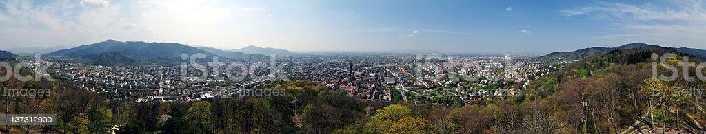 Panorama of Freiburg im Breisgau, Germany royalty-free stock photo