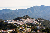 Panorama of Gaucin town in Andalusia, Spain