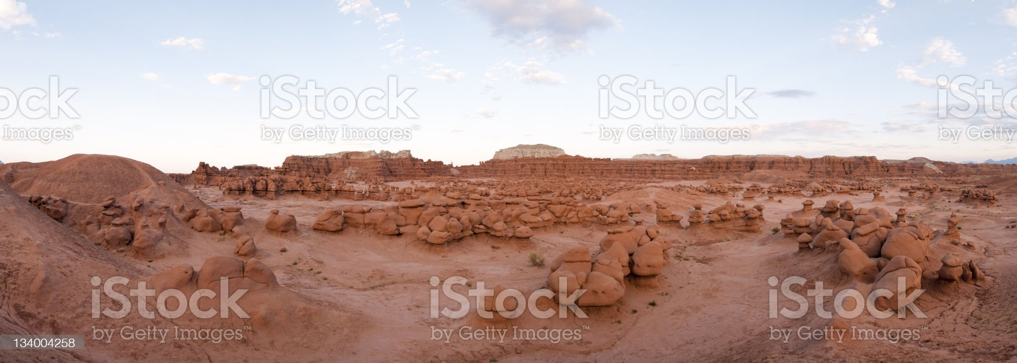 Panorama of Goblin Valley State Park royalty-free stock photo