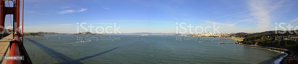 panorama of golden gate bay, san francisco royalty-free stock photo