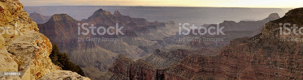 Panorama of Grand Canyon from Bright Angel Viewpoint royalty-free stock photo