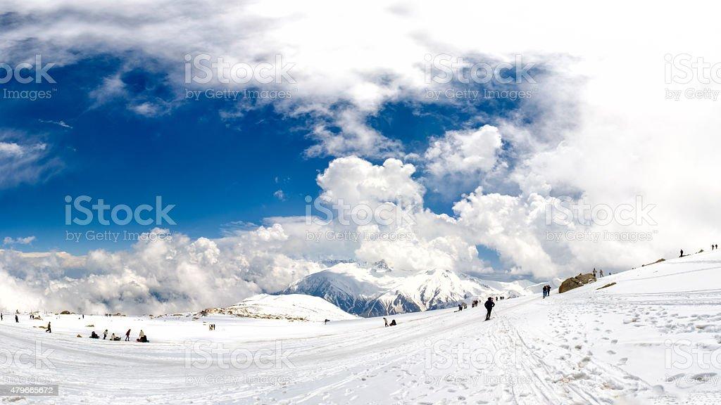 Panorama of Gulmarg, India stock photo