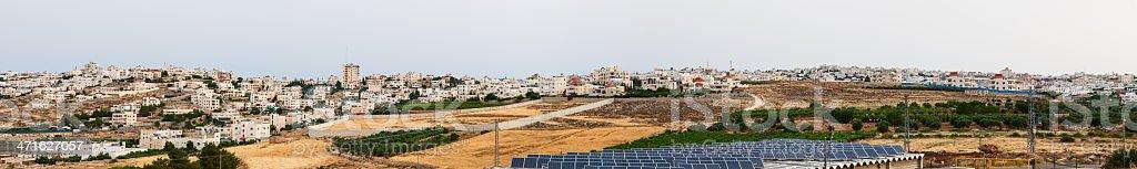 Panorama of Hebron stock photo
