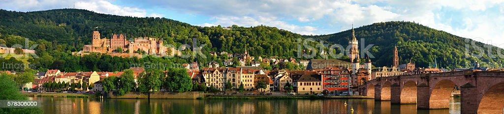 Panorama of Heidelberg, Germany stock photo