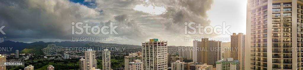 Panorama of Hillside View stock photo