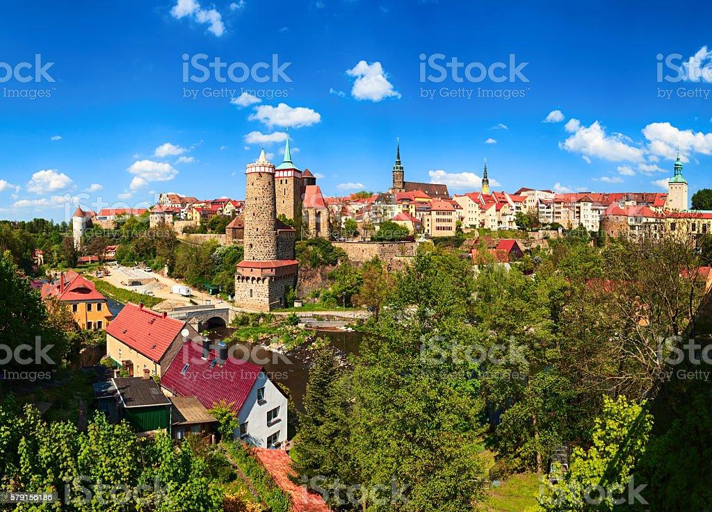 Panorama of historic old town Bautzen, Saxony, Germany. stock photo