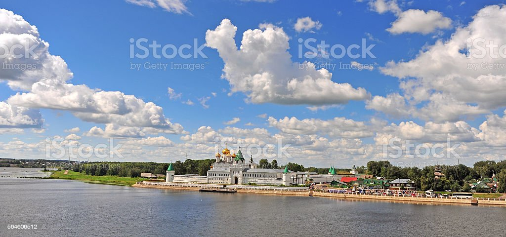 Panorama of Ipatiev monastery stock photo