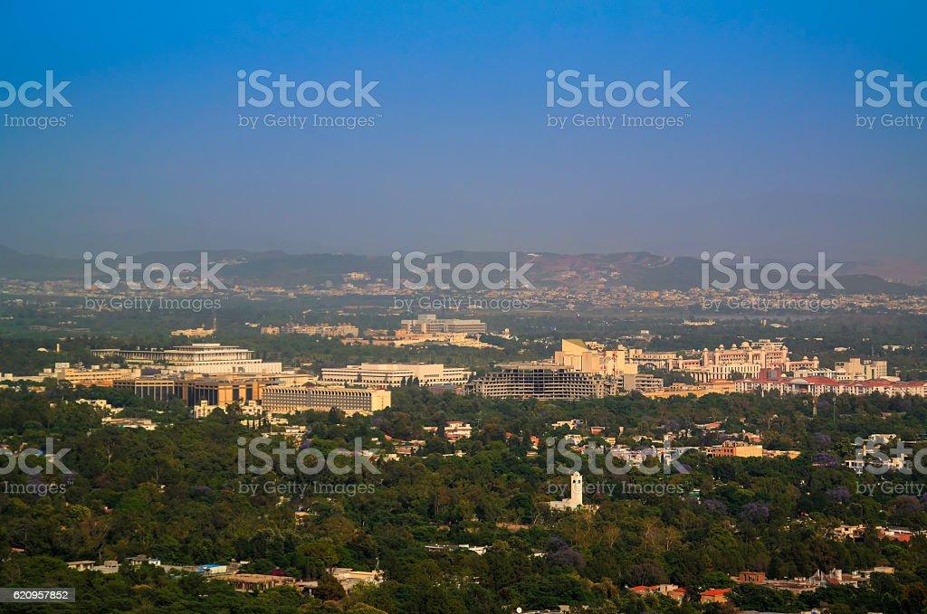 Panorama of Islamabad, Pakistan stock photo