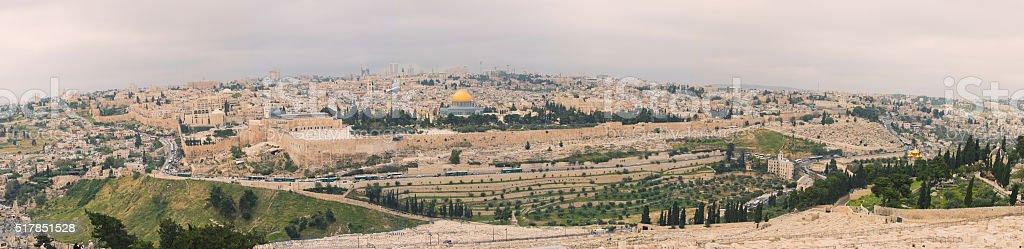 Panorama of Jerusalem, Israel. stock photo