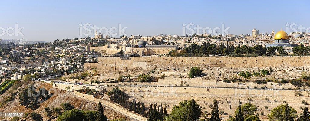 Panorama of Jerusalem stock photo