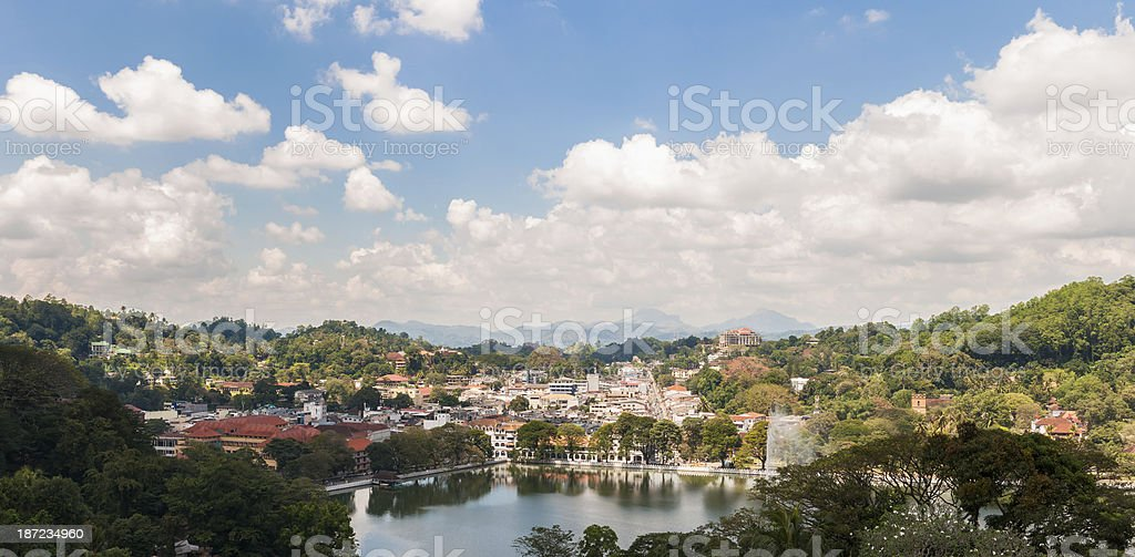 Panorama of Kendy royalty-free stock photo
