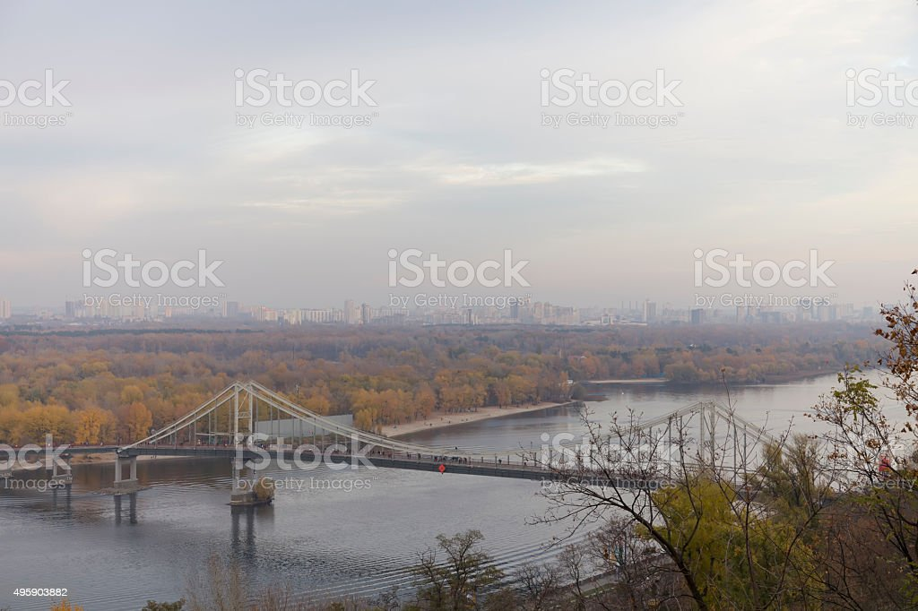 Panorama of Kiev stock photo