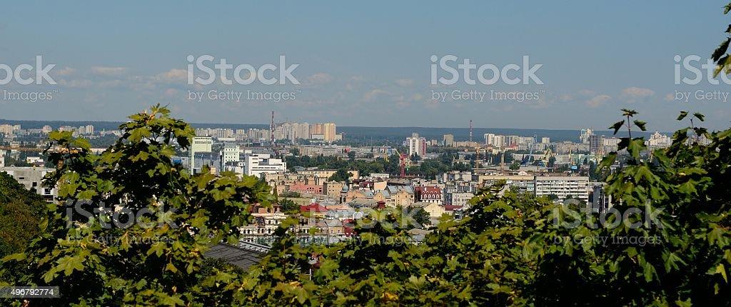 Panorama of Kiev from the site on Andriyivskyy Descent, Kiev, Ukraine