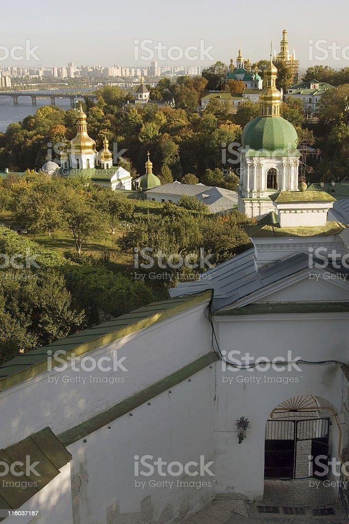 Panorama of Kiev-Pechersk Lavra royalty-free stock photo