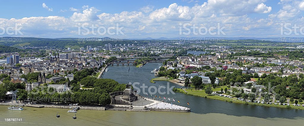 Panorama of Koblenz, Germany stock photo