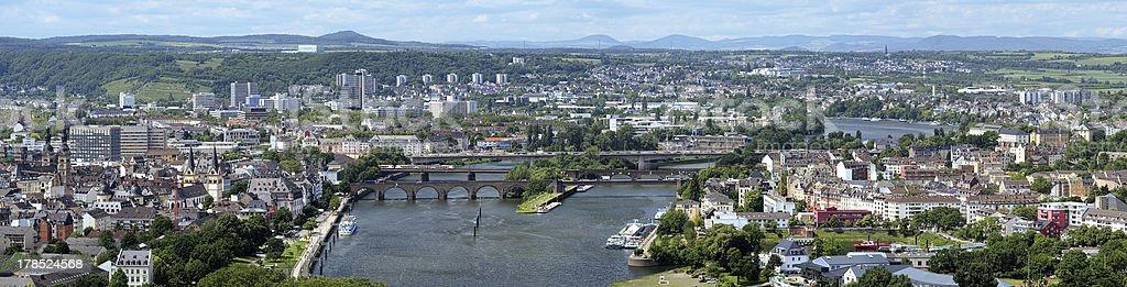 Panorama of Koblenz, Germany royalty-free stock photo