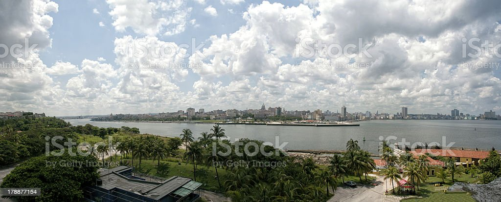 Panorama of La Habana with sky and cloud royalty-free stock photo