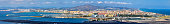 Panorama of La Linea and Gibraltar Airport