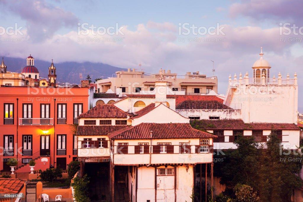 Panorama of La Orotava stock photo