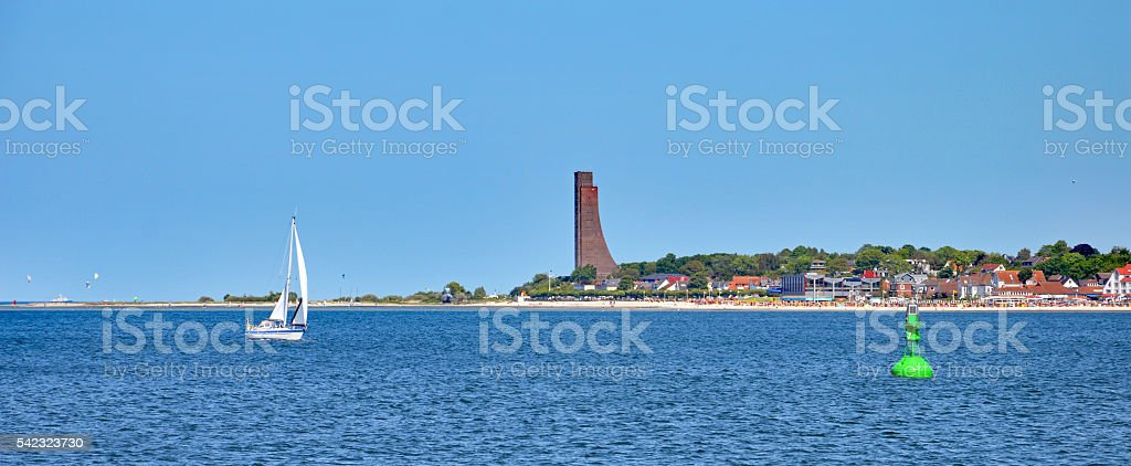 Panorama of Laboe (Germany) stock photo