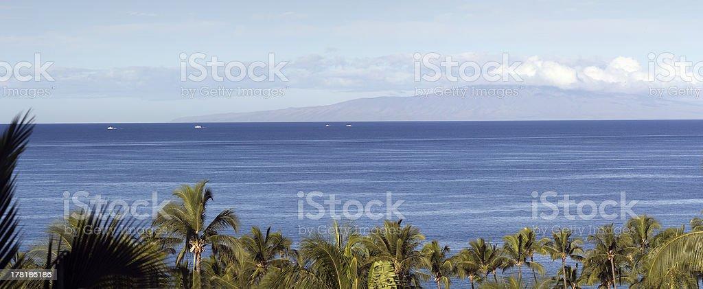 Panorama of Lanai, HI royalty-free stock photo