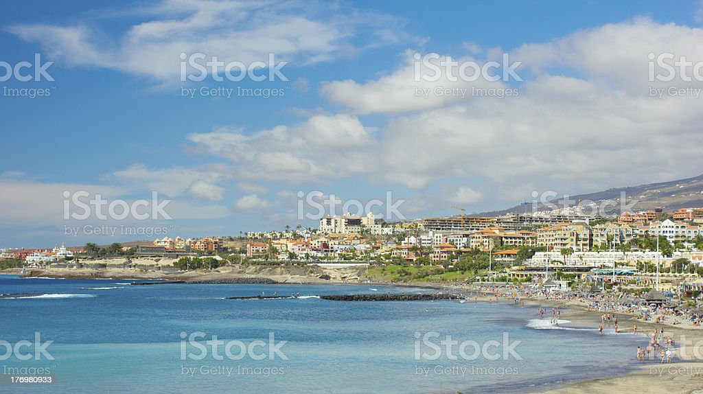 panorama of Las Americas, Tenerife, Spain stock photo