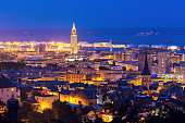 Panorama of Le Havre at night