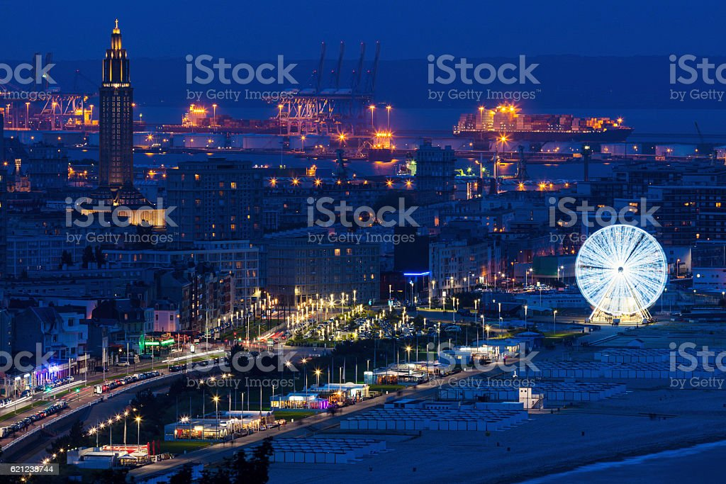 Panorama of Le Havre stock photo