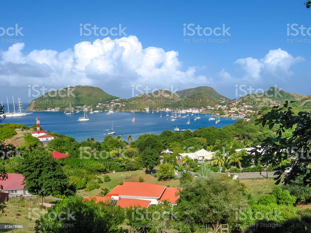 Panorama of Les Saintes stock photo