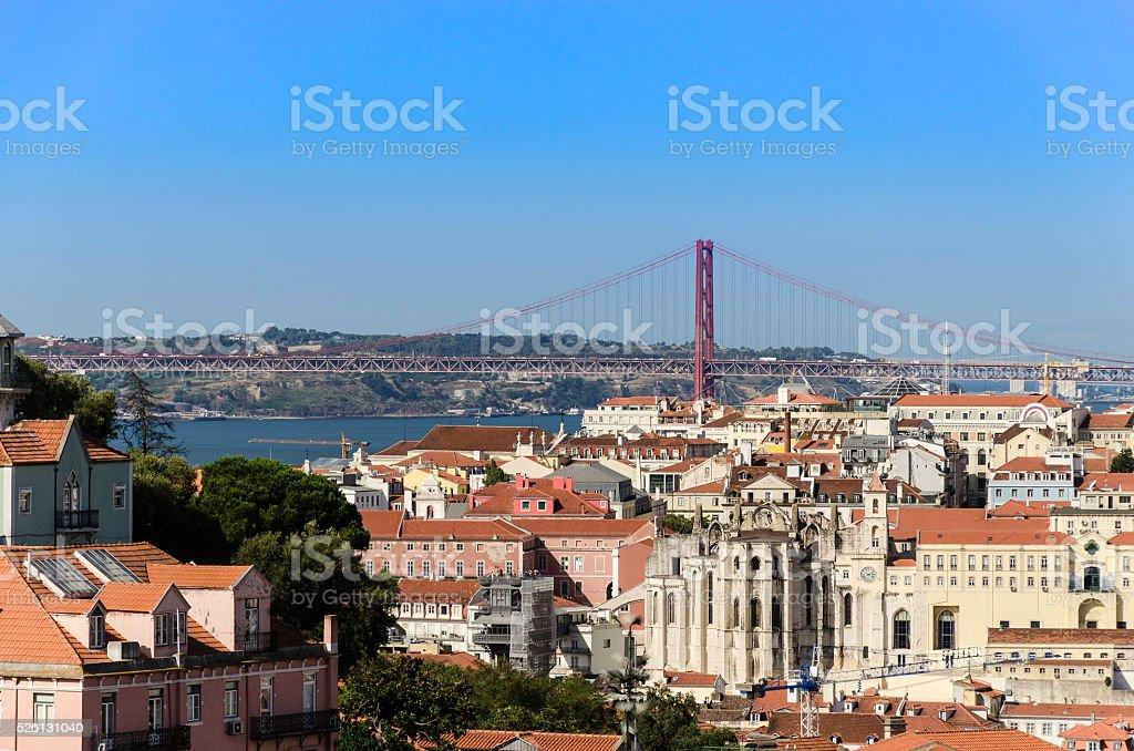 panorama of lisbon stock photo