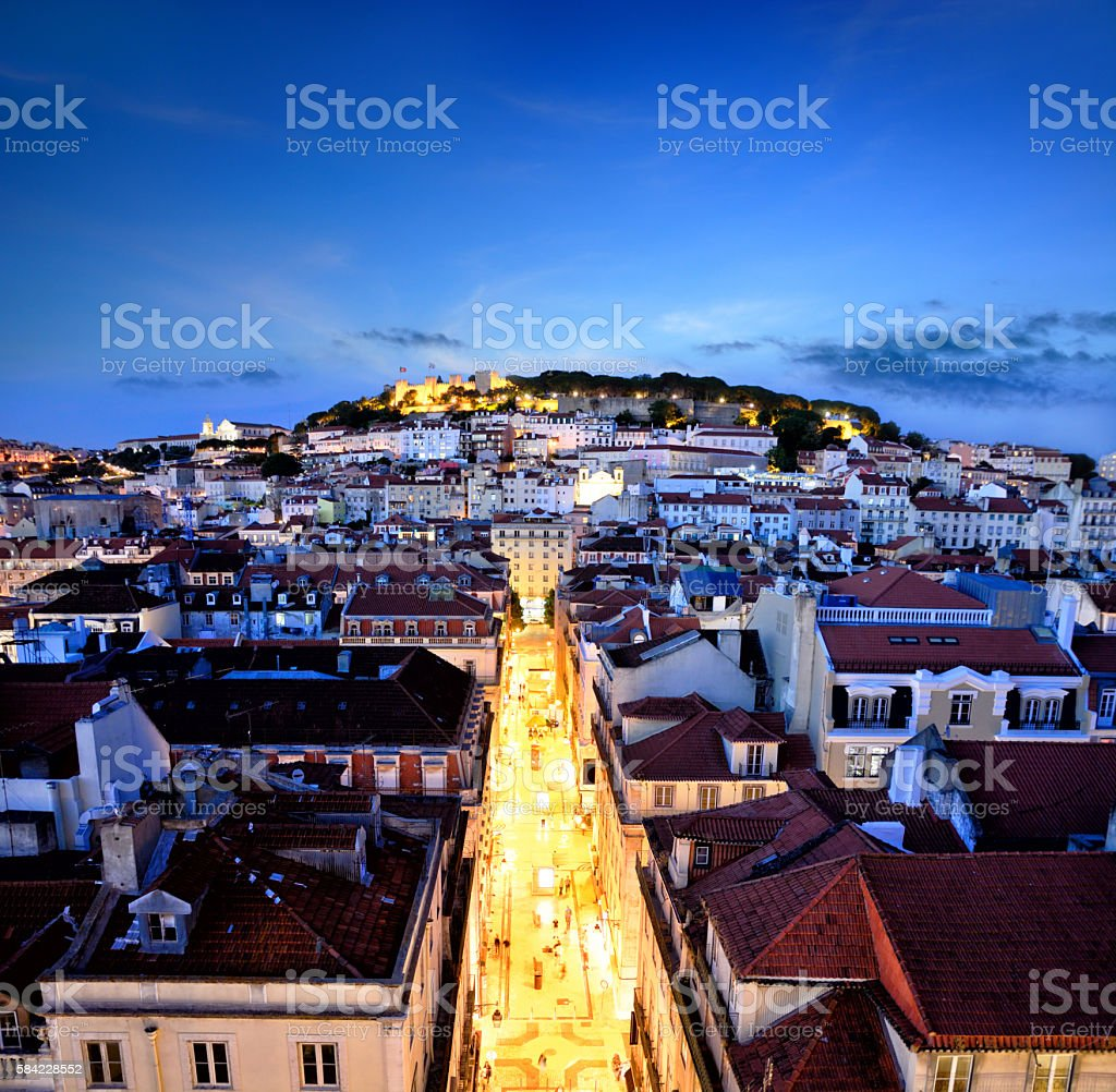 Panorama of Lisbon stock photo