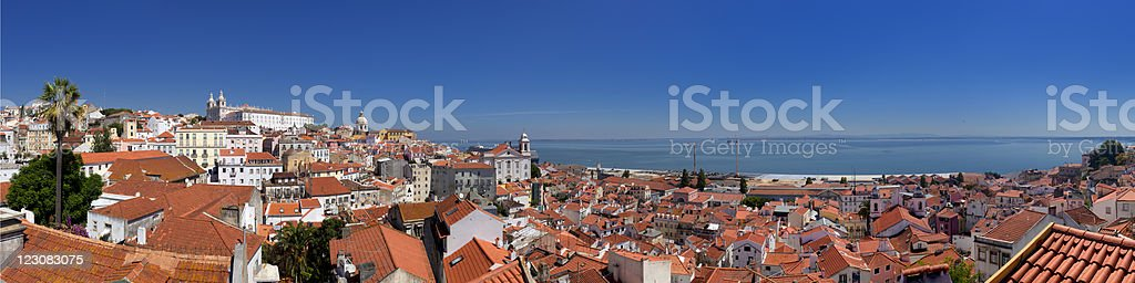 Panorama of Lisbon Portugal featuring the sky royalty-free stock photo