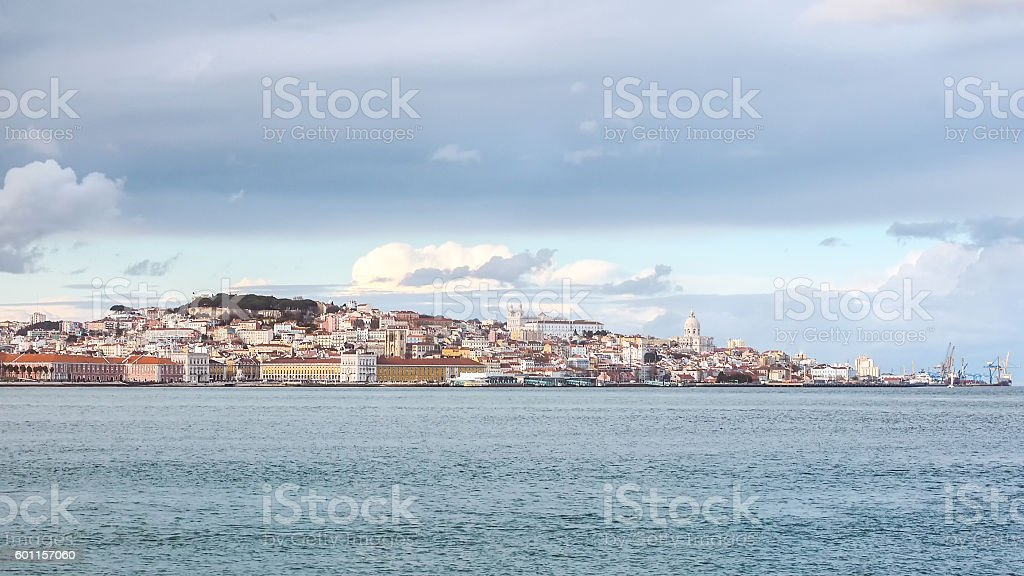 Panorama of Lisbon, Portugal stock photo