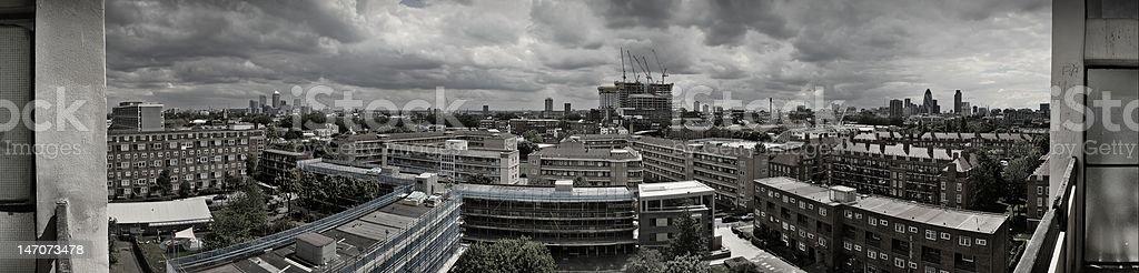 Panorama of London Skyline stock photo