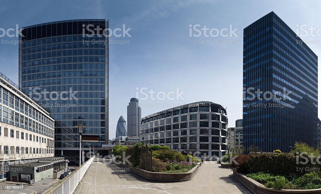 Panorama of London's financial district royalty-free stock photo