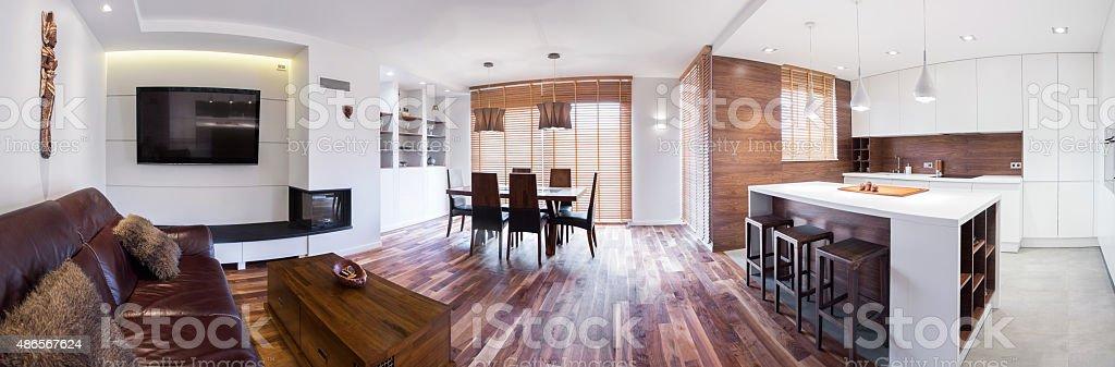 Panorama of lounge stock photo